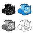 baby socks icon in cartoon style isolated on white vector image vector image