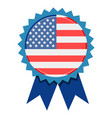 badge with a flag of united states vector image