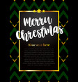 beautiful greeting card merry christmas vector image vector image