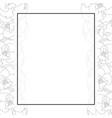 begonia flower outline picotee banner card border vector image vector image
