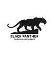 black panther logo design vector image vector image