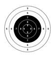 blank gun target paper shooting target blank targe vector image vector image