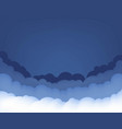 blue and white clouds background vector image vector image