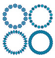 blue moroccan circle frames vector image vector image