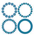 Blue moroccan circle frames