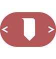 bookmark icon vector image vector image
