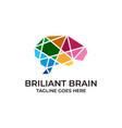 brain design concept template vector image