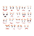 cartoon faces collection caricature comic vector image vector image