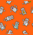 cartoon pattern with cats vector image vector image