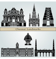 Chennai landmarks and monuments vector image