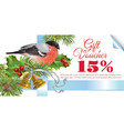 Christmas gift voucher vector image vector image