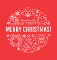 christmas new year banner vector image