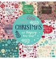 Christmas seamless patterns set vector image vector image