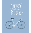 Classic mens town road bike with enjoy the ride vector image vector image