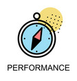 compass icon for performance on white background vector image vector image