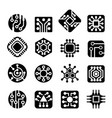 computer chips icons vector image