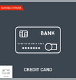 credit card icon thin line vector image