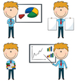 Cute funny office worker vector image vector image