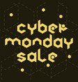 cyber monday sale hexagonal vector image