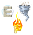 earth wind fire vector image vector image