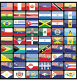 elements of design icons flags of the continent vector image