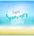 enjoy summer holiday at beach vector image