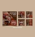fashion sale banner set template vector image vector image