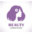 female beauty and hairstyle vector image