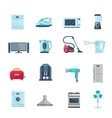 Flat Color Icons Set Of Household Appliances vector image vector image