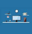 flat of modern workplace vector image vector image
