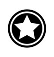 flat style retro star icon vector image vector image