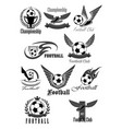 Football club icons for soccer championship