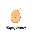 funny easter happy egg vector image vector image