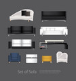furniture set of sofa vector image