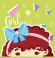 girl beatiful face vector image vector image