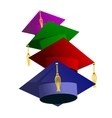 Graduation hat vector image