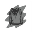 grey hoodie back view vector image vector image