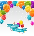 Happy Birthday Card Template with Balloons vector image vector image