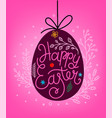 happy easter lettering inscription easter eggs in vector image vector image