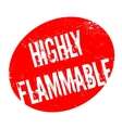 Highly Flammable rubber stamp vector image vector image