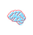 human brain icon in modern colours on white vector image