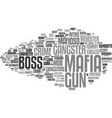 mafia word cloud concept vector image