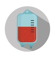 medical blood bag vector image