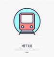 metro thin line icon front view vector image