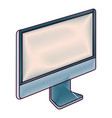 monitor computer technology device screen blank vector image