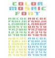 mosaic font vector image vector image