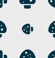 mushroom icon sign Seamless pattern with geometric vector image