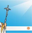 New pope with argentina flag vector | Price: 1 Credit (USD $1)