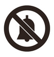 no noise sign vector image vector image