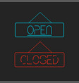 open and closed signboards vector image vector image